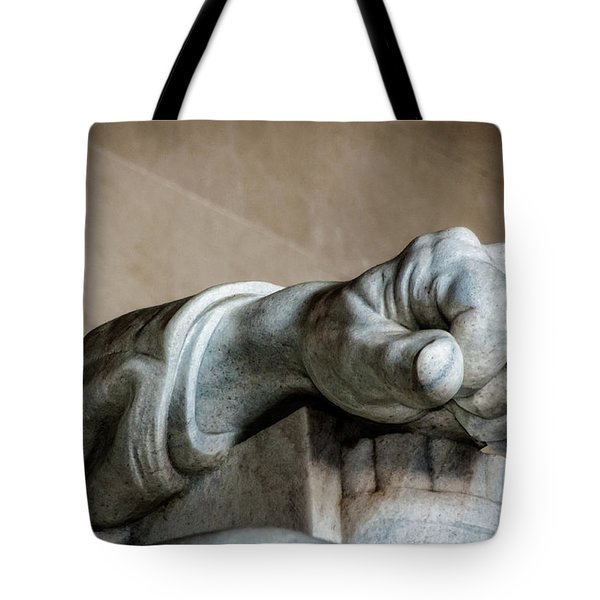 Lincoln's Left Hand Tote Bag