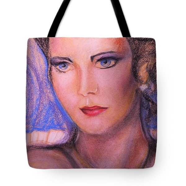 Tote Bag featuring the pastel Linda Carter by Denise Fulmer