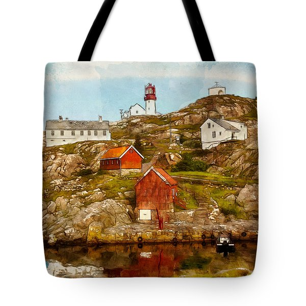 Lindesnes Lighthouse Tote Bag