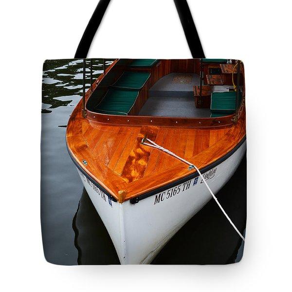 Lindy Lou Wood Boat Tote Bag