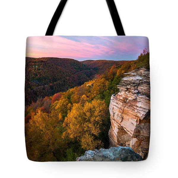 Lindy Point Overlook Fall Sunset Tote Bag