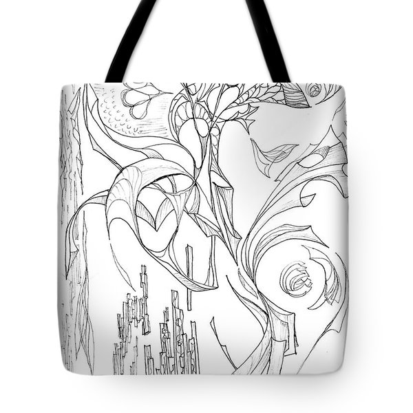 Flowing Floating Flora Tote Bag by Charles Cater