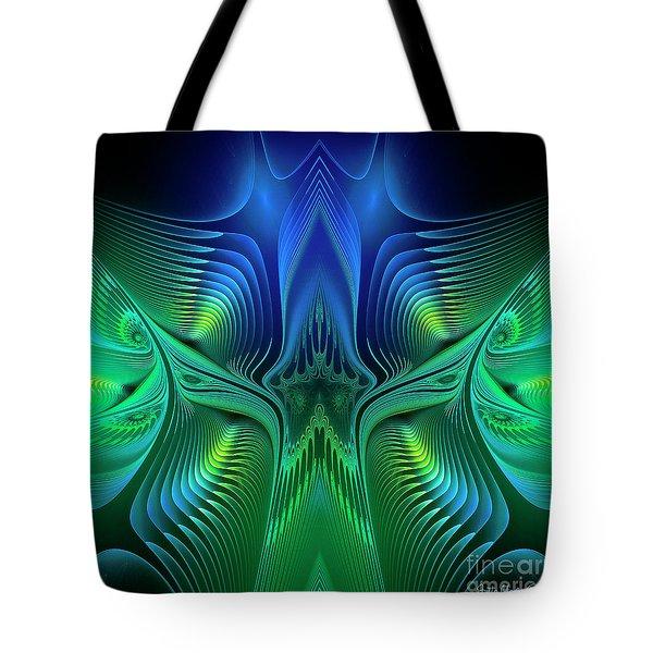 Tote Bag featuring the digital art Line Art by Jutta Maria Pusl