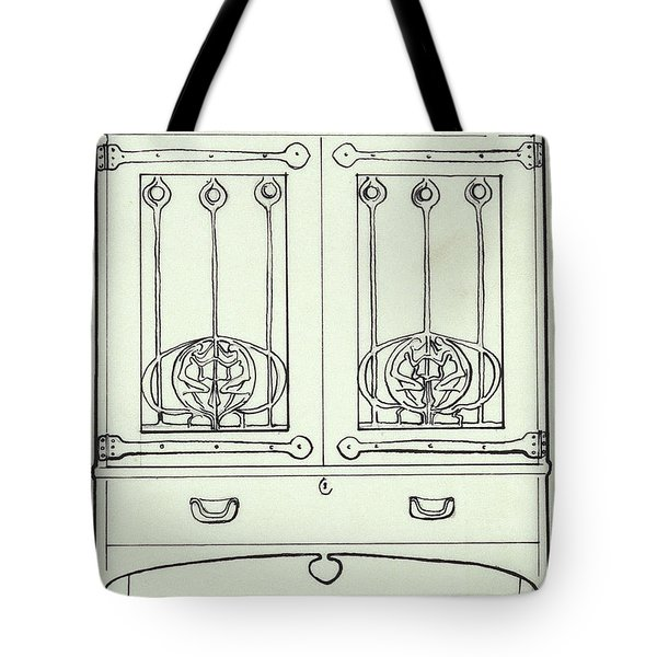 Line Drawing Of A Dressing Table Tote Bag