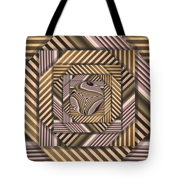 Line Geometry Tote Bag by Ron Bissett