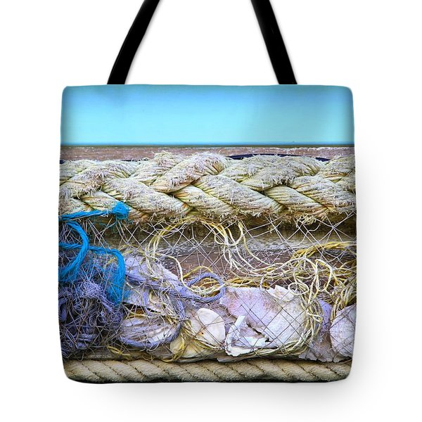 Tote Bag featuring the photograph Line Of Debris II by Stephen Mitchell