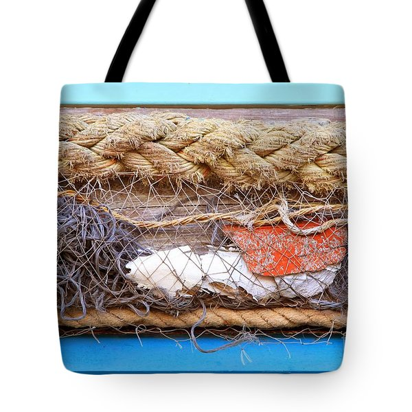 Tote Bag featuring the photograph Line Of Debris by Stephen Mitchell
