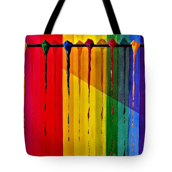 Line Of Fall Colors Tote Bag