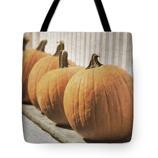 Line Of Pumpkins Tote Bag