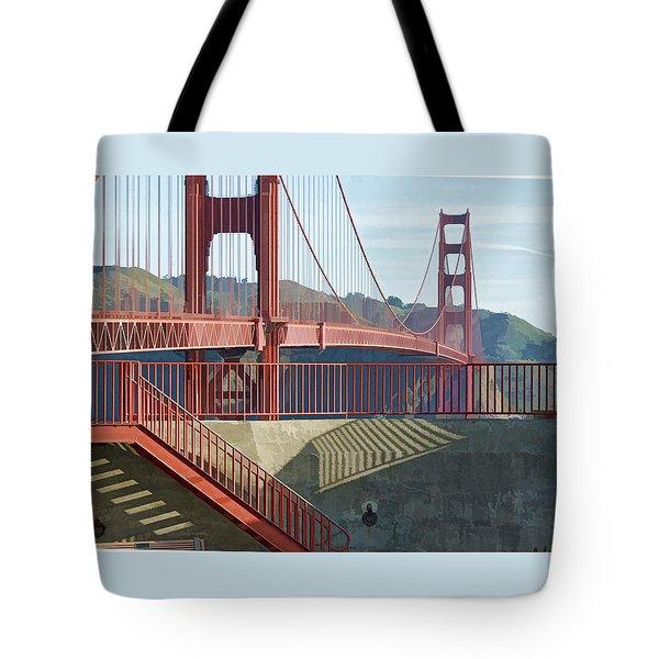 Tote Bag featuring the photograph Linear Golden Gate Bridge by Steve Siri