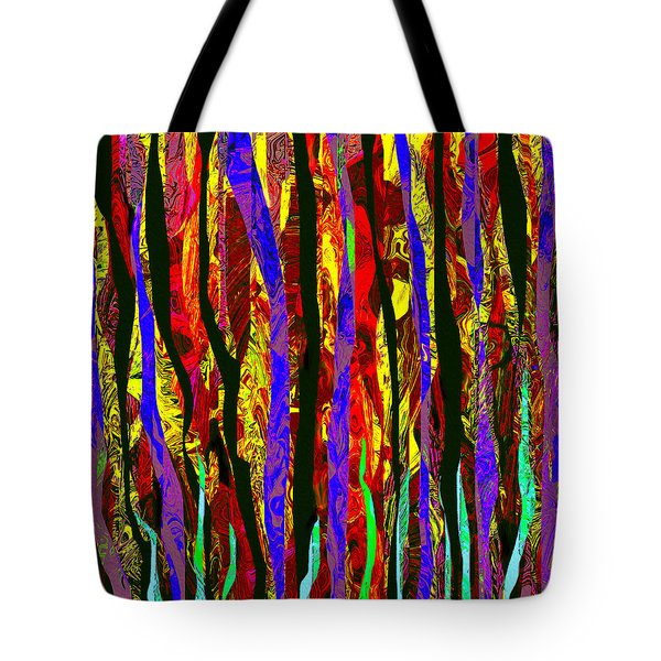 Linear Waves Tote Bag