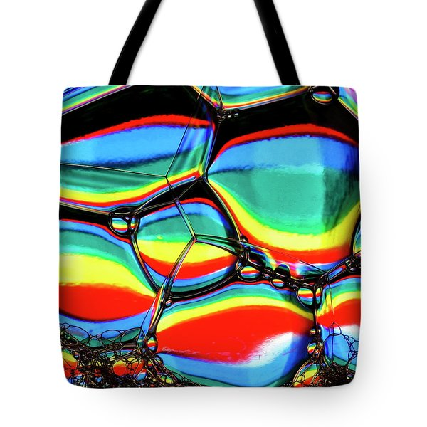 Tote Bag featuring the photograph Lined Bubbles by Jean Noren
