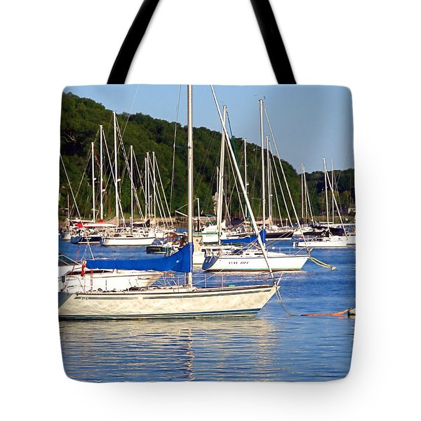 Tote Bag featuring the photograph Lined Up by  Newwwman