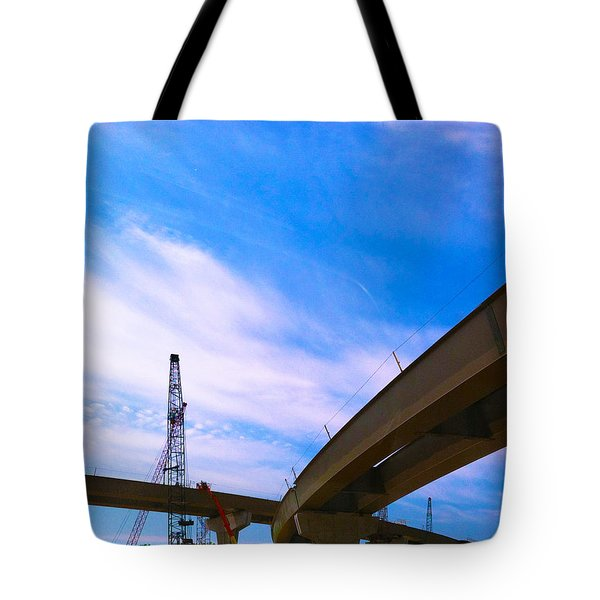 Tote Bag featuring the photograph Lineing The Sky by Jamie Lynn