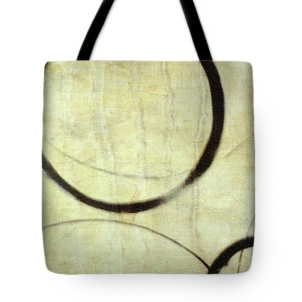 Tote Bag featuring the painting Linen Ensos by Julie Niemela
