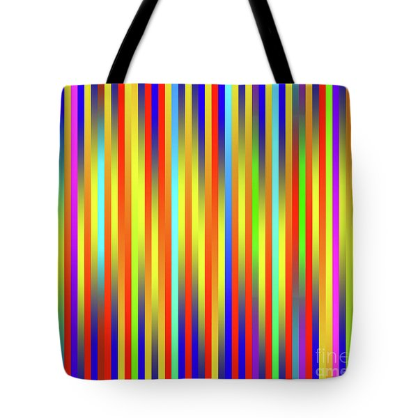 Tote Bag featuring the digital art Lines 17 by Bruce Stanfield