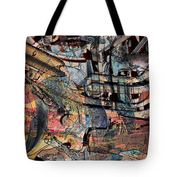 Lines And Colors Tote Bag by Don Gradner