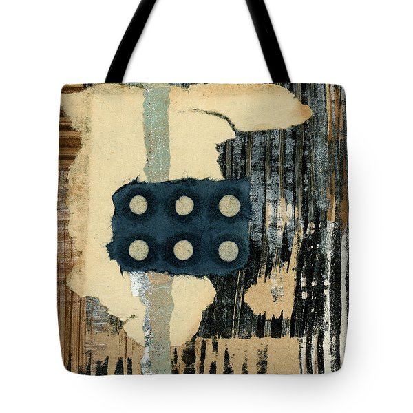 Lines And Dots Collage Tote Bag