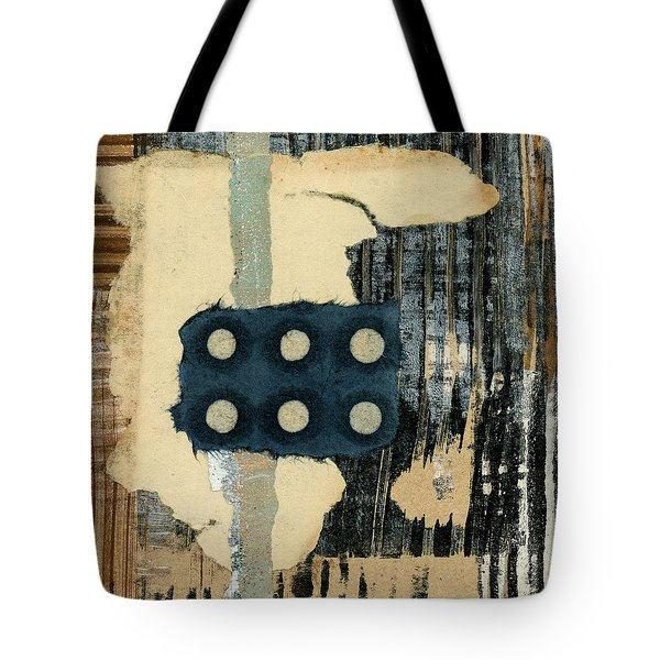 Lines And Dots Collage Square Format Tote Bag