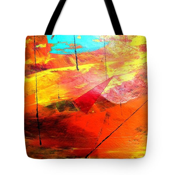 Lines And Landscape Tote Bag