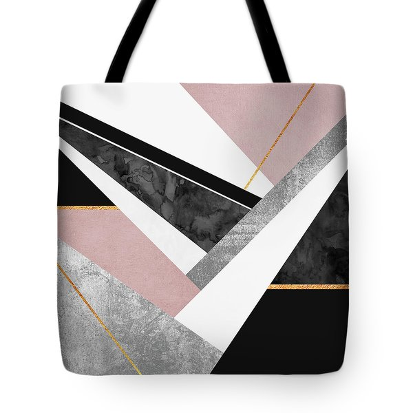 Lines And Layers Tote Bag