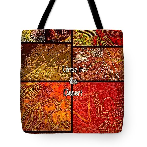 Lines In The Desert Tote Bag