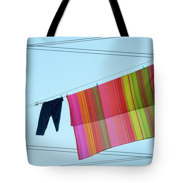 Lines In The Sky Tote Bag by Ana Mireles