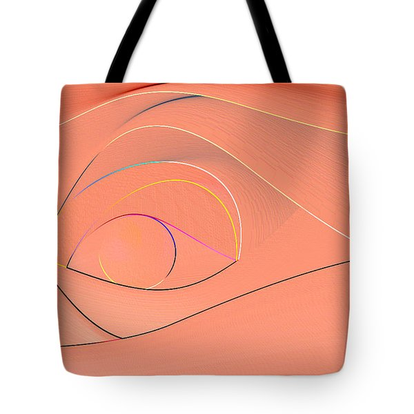 Tote Bag featuring the digital art Lines by Leo Symon