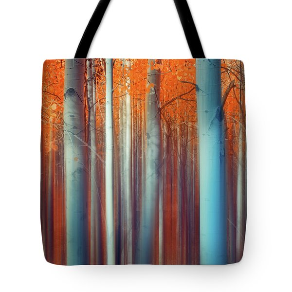 Lines Of Autumn Tote Bag
