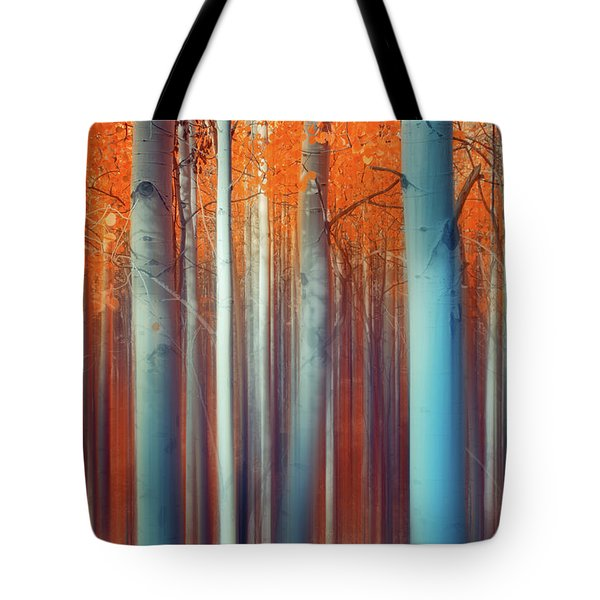 Tote Bag featuring the photograph Lines Of Autumn by John De Bord