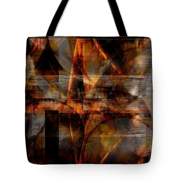 Tote Bag featuring the digital art Lines Of Symmetry by Art Di