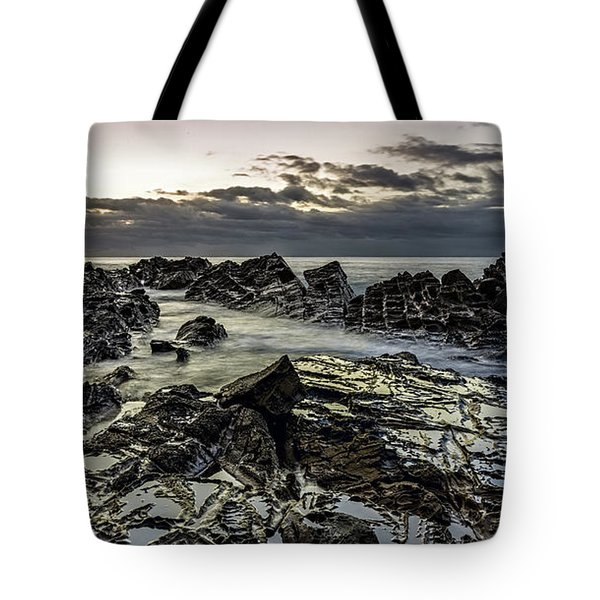 Lines Of Time Tote Bag by Mark Lucey