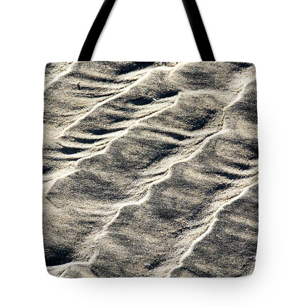Lines On The Beach Tote Bag