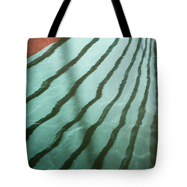 Lines On The Water Tote Bag