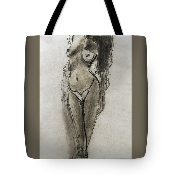 Tote Bag featuring the painting Lingerie Elegance by Jarko Aka Lui Grande