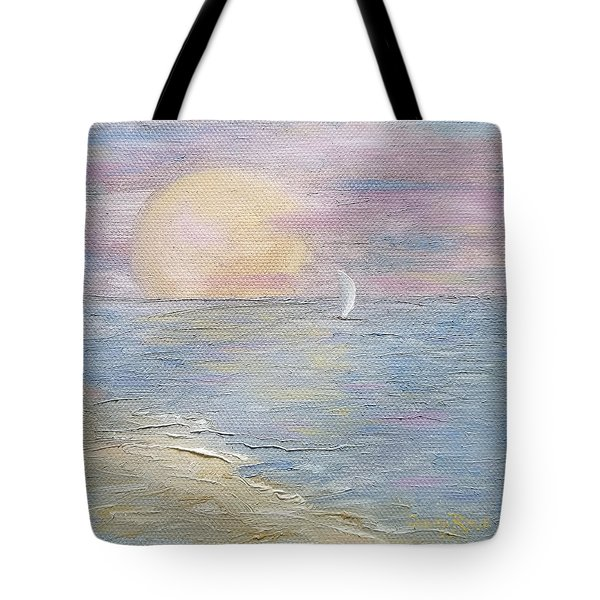 Tote Bag featuring the painting Lingering Freedom by Judith Rhue