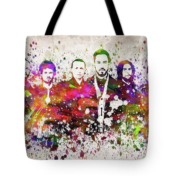 Linkin Park In Color Tote Bag