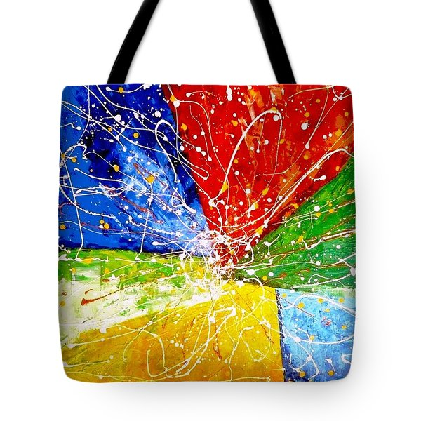 Tote Bag featuring the painting Linkz by Piety Dsilva