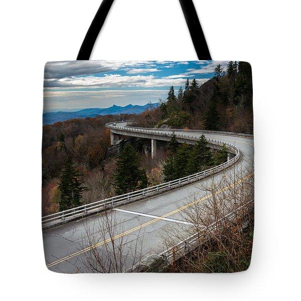 Linn Cove Viaduct Late Fall Tote Bag