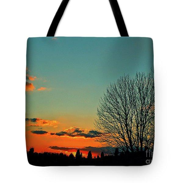 Linvilla Sunset Tote Bag