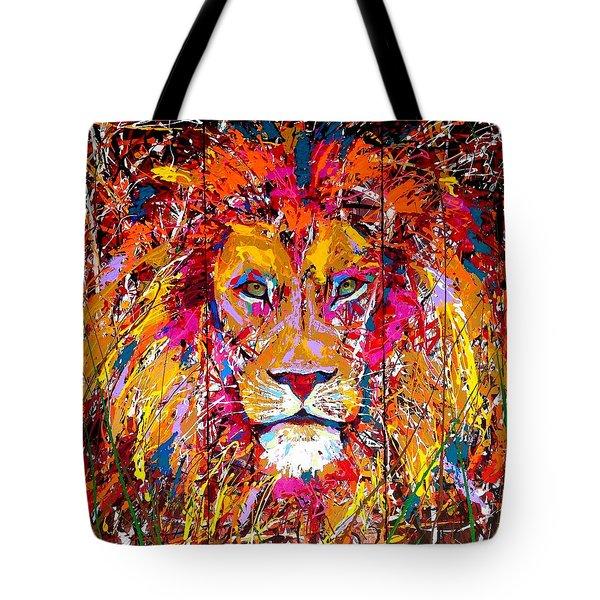 Lion 4 Tote Bag