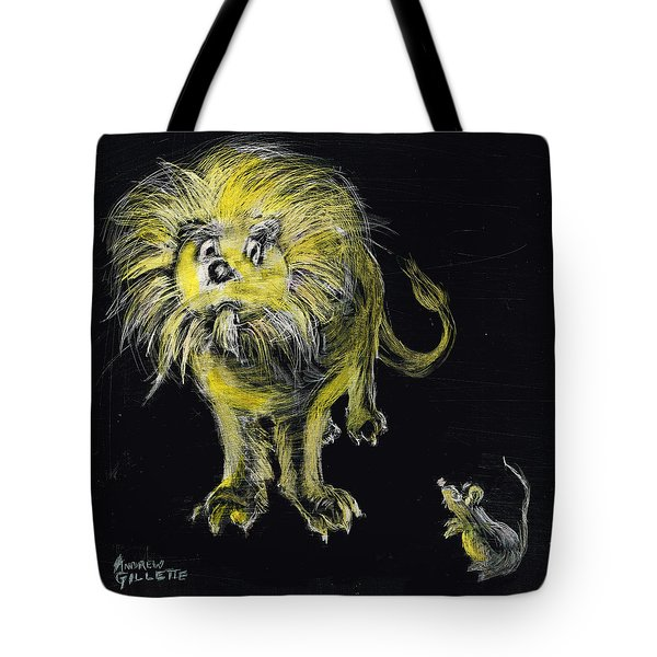 Lion And The Mouse Tote Bag