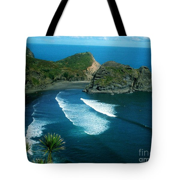 Lion Beach Piha New Zealand Tote Bag