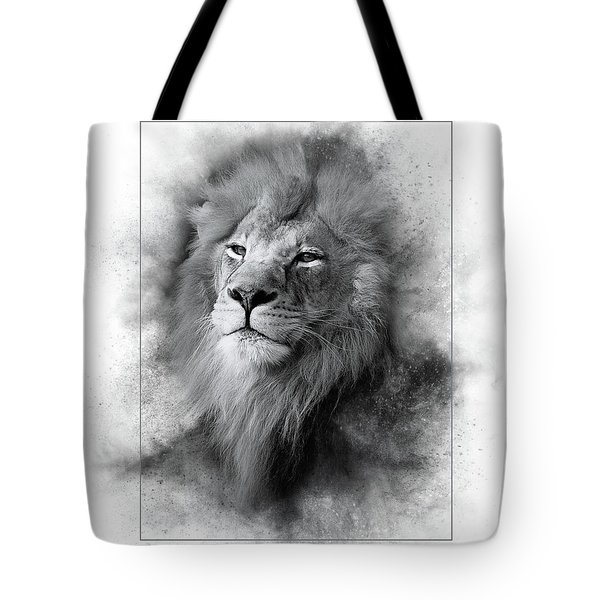 Lion Black White Tote Bag