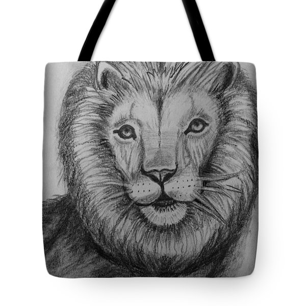 Lion Tote Bag by Brindha Naveen