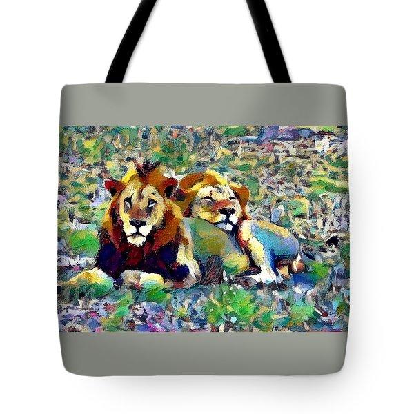 Lion Buddies Tote Bag