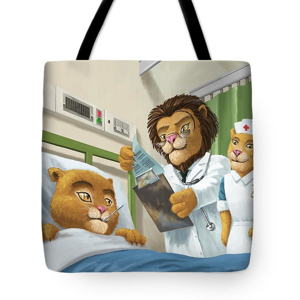 Lion Cub In Hospital Tote Bag