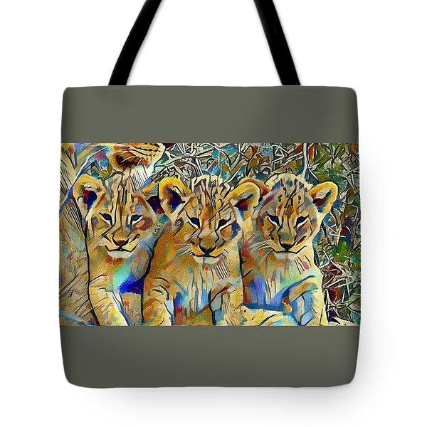 Lion Cubs Tote Bag