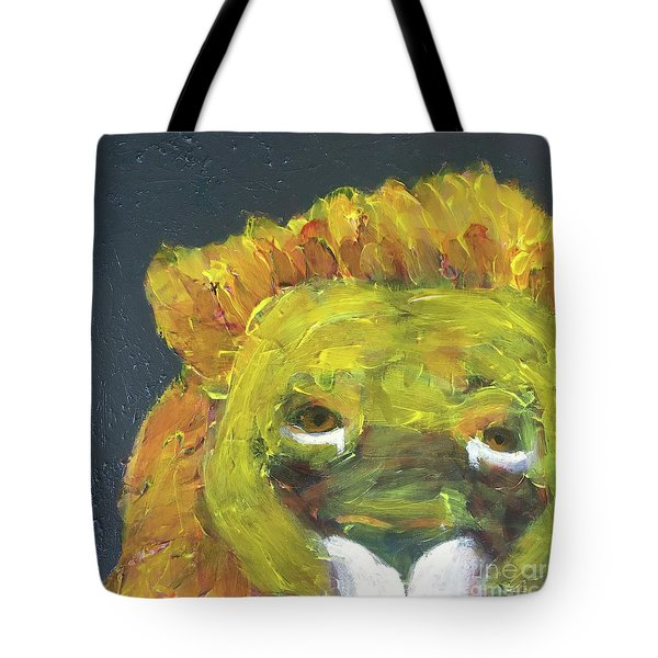 Tote Bag featuring the painting Lion Family Part 1 by Donald J Ryker III