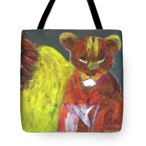 Tote Bag featuring the painting Lion Family Part 6 by Donald J Ryker III